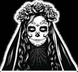 Santa Muerte Halloween Sticker