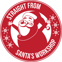 Santa's Workshop Stamp Sticker