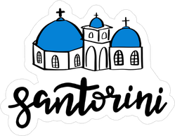 Santorini Illustration Sticker