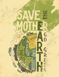Save Mother Earth Sticker