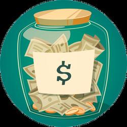 Savings Jar Sticker