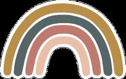 Scandinavian Boho Rainbow Sticker