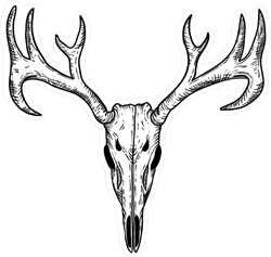 Scary Deer Skull Sticker