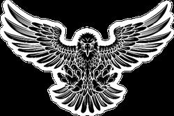 Scary Eagle Sticker