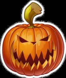 Scary Jack-o-lantern Pumpkin Sticker