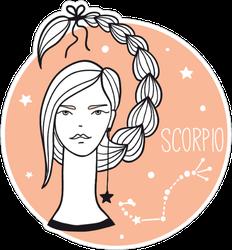 Scorpio Girl Sticker