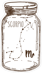Scorpio Mason Jar Sticker