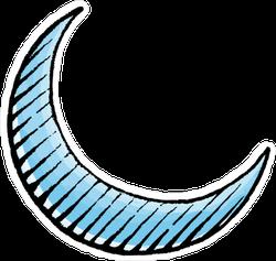 Scratchboard Style Moon Sticker