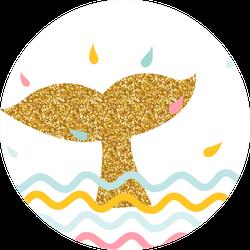 Sea Adventure Glitter Dolphin Sticker