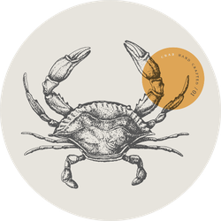 Sea Crab Drawn By Graphic Lines Sticker