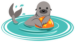 Sea Lion Playing With Ball In The Water Sticker