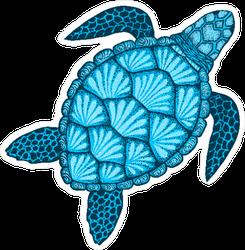 Sea Shell Turtle Sticker