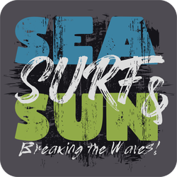 Sea, Surf & Sun Sticker