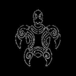 Sea Turtle Maori Tattoo Sticker