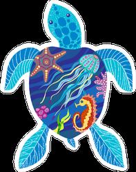 Sea Turtle Ocean Ecosystem Sticker