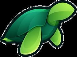 Sea Turtle Simple Geometric Sticker
