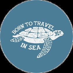 Sea Turtle Vintage Label.hand Drawn Vector Illustration