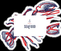 Seafood Banner Lobster Design Sticker