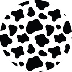 Seamless Black And White Cow Pattern Sticker
