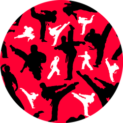 Seamless Colored Pattern Martial Arts Sticker