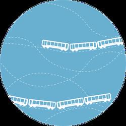 Seamless Flat Cartoon Pattern With Train Road Sticker