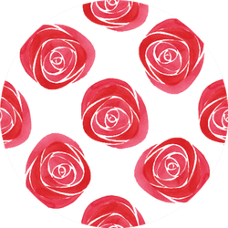 Seamless Floral Pattern Watercolor Roses Sticker