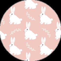 Seamless Hare Pattern. Cute Little Bunny Sticker