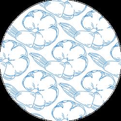 Seamless Pattern Blue Shrimp Sticker