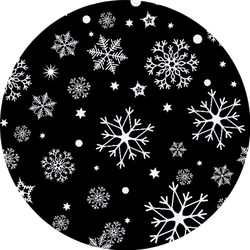 Seamless Pattern Of Snowflakes On A Black Background Sticker