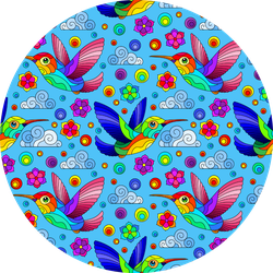 Seamless Pattern With Bright Hummingbirds Sticker