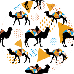 Seamless Pattern With Camels And Triangles Stickers