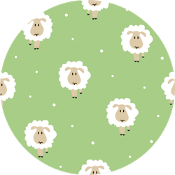 Seamless Pattern With Cute Hand-drawn Sheep Sticker