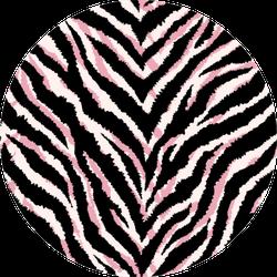 Seamless Pattern With Zebra Fur Print Sticker