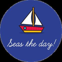 Seas The Day Sailing Sticker