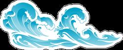 Seascape Ocean Wave Sticker