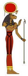 Sekhmet , Egyptian Ancient Symbol Sticker