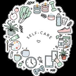 Self Care Hand Drawn Illustrations Sticker