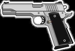Semi Automatic Pistol Gun Sticker