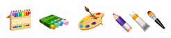 Set Of Cute Tools The Professional Artist Sticker