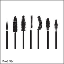 Set of Mascara Brushes Sticker