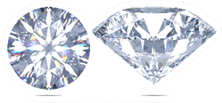 Set Of Sparkling Light Round Brilliant Cut Diamonds Jeweler Sticker