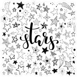 Set of Stars Sticker