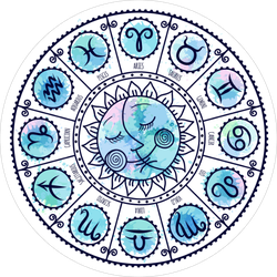 Set Of Symbol Zodiac Signs Sticker