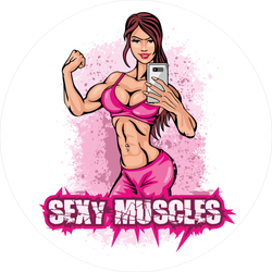 Sexy Muscles Workout Sticker
