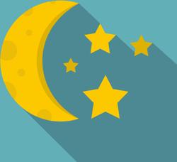 Shadowed Stars And Moon Sticker