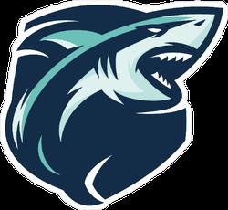 Shark Mascot Sticker