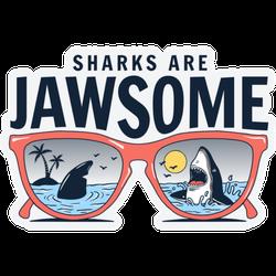 Sharks Are Jawsome California Illustration Sticker