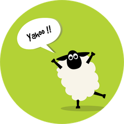 Sheep Jump And Say Yahoo Illustration Sticker