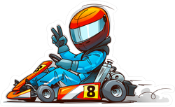 Shifter Kart Racer Cartoon Sticker