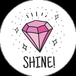 """Shine!"" Gem Jeweler Illustration Sticker"